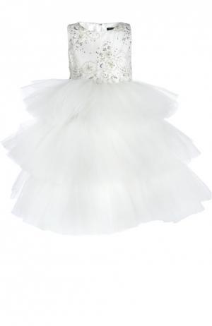 Платье Dennis Basso. Цвет: белый