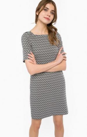 Хлопковое платье на молнии MORE &. Цвет: серый