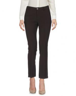 Повседневные брюки NINETTE. Цвет: темно-коричневый