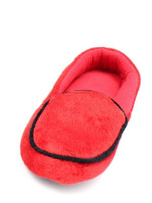 Носки-тапочки HOBBY LINE. Цвет: красный