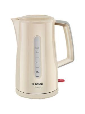 Чайник Bosch TWK3A017 1.7л. 2400Вт бежевый (пластик). Цвет: бежевый