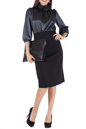 Платье Mannon. Цвет: черно-синий