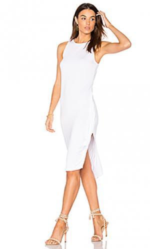 Платье миди topaz Feel the Piece. Цвет: белый