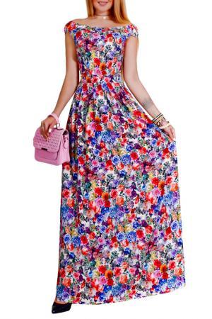 Платье Patricia B.. Цвет: молочный, красный, голубой