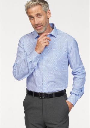 Рубашка STUDIO COLETTI. Цвет: синий/белый с рисунком