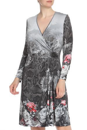 Трикотажное платье с запахом Tuzzi. Цвет: мультиколор
