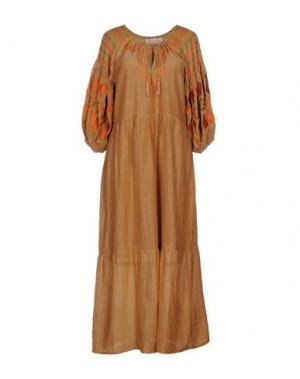 Длинное платье SOHO DE LUXE. Цвет: коричневый