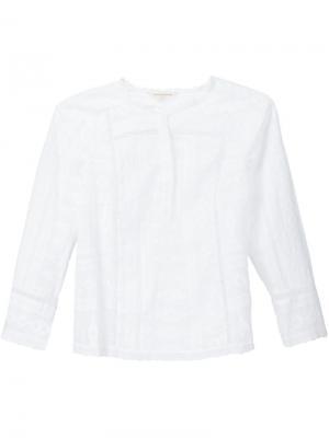 Блузка с вышивкой Rebecca Taylor. Цвет: белый