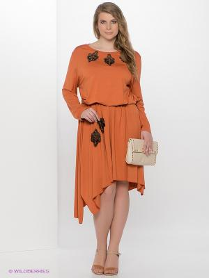 Платье MARY MEA. Цвет: оранжевый