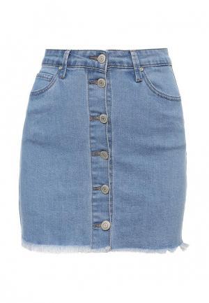 Юбка джинсовая Kiss Pink. Цвет: голубой