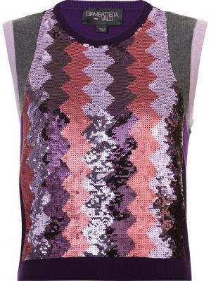 Жилет с пайетками Giambattista Valli. Цвет: розовый и фиолетовый