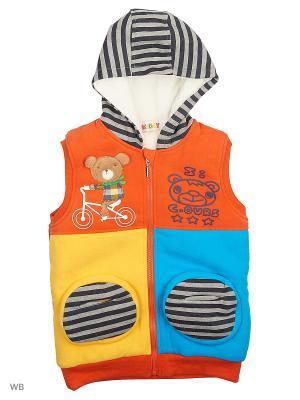 Жилет Kidly. Цвет: оранжевый, голубой