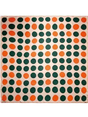 Платок Eleganzza. Цвет: темно-зеленый, оранжевый, темно-бежевый