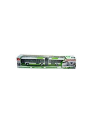 Автобус городской радиоуправляемый Играем вместе. Цвет: зеленый, белый