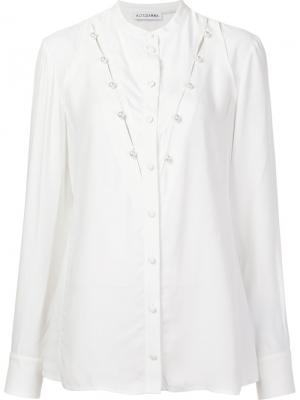 Блузка с жемчужными деталями Altuzarra. Цвет: белый