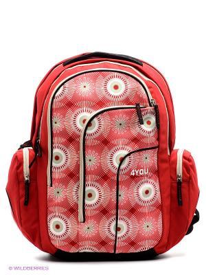 Рюкзак Скорпион 4you. Цвет: красный, бежевый