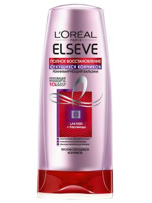 Бальзам  Elseve, Восстановление секущихся кончиков , для ослабленных,поврежденных волос, 200 мл L'Oreal Paris. Цвет: белый