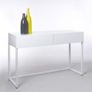 Стол-консоль, 2 видов, Newark La Redoute Interieurs. Цвет: белый