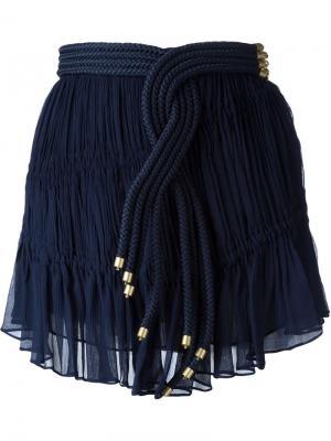 Мини юбка с украшением из плетеного жгута Jay Ahr. Цвет: синий