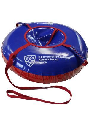 Сноутьюб КХЛ 80 см тент-тент (с камерой) KHL. Цвет: синий, белый, красный