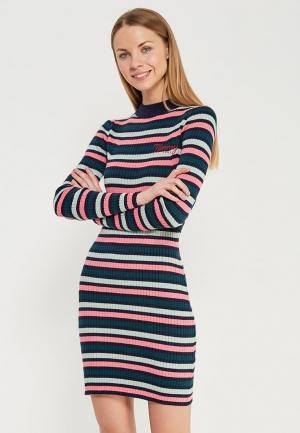 Платье Tommy Jeans. Цвет: разноцветный