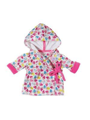 Игрушка BABY born Одежда Халат с капюшоном, веш. ZAPF. Цвет: розовый