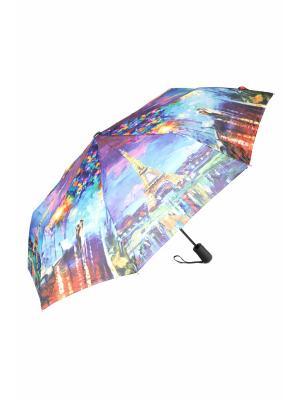 Зонт Mitya Veselkov. Цвет: синий, зеленый, красный