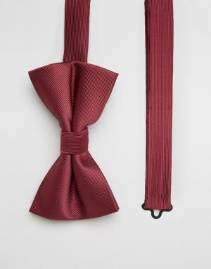 ASOS Бордовый галстук-бабочка. Цвет: красный