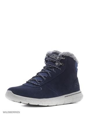 Ботинки SKECHERS. Цвет: синий, серый