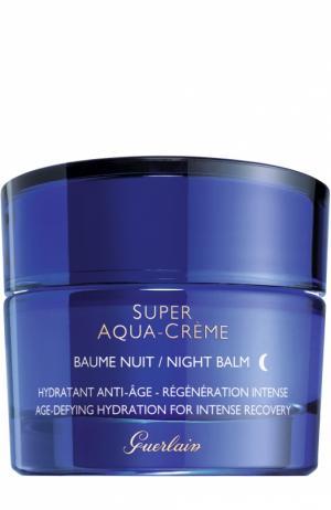 Ночной восстанавливающий крем Super Aqua-Night Guerlain. Цвет: бесцветный