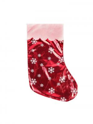 Носок для подарков Новогодняя ярмарка. Цвет: бледно-розовый, красный