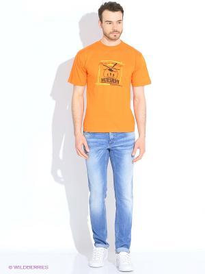 Футболка мужская Фан-Клуб перекрестного опыления оранжевая Экспедиция. Цвет: оранжевый