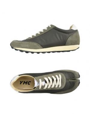 Низкие кеды и кроссовки YMC YOU MUST CREATE. Цвет: зеленый-милитари