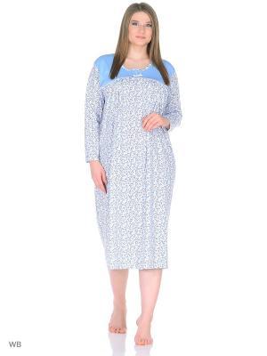 Ночная сорочка lawiggi. Цвет: голубой