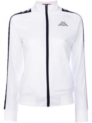 Спортивная куртка на молнии Kappa. Цвет: белый