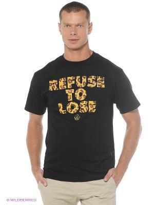 Футболка REFUSE TEE JSLV. Цвет: черный
