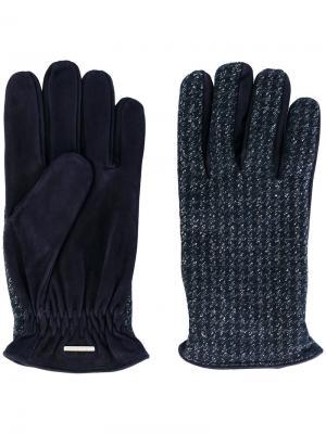 Трикотажные перчатки Lardini. Цвет: синий