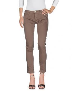 Джинсовые брюки ATELIER FIXDESIGN. Цвет: хаки