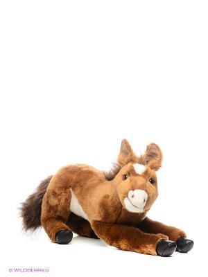 Пони с мягкой набивкой, 35 см Hansa. Цвет: коричневый