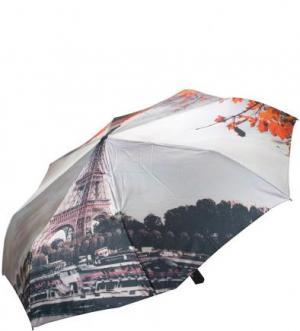 Складной зонт с системой антиветер FLIORAJ. Цвет: серый