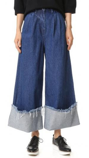 Юбка-брюки Turn Up EDIT. Цвет: темный выцветший