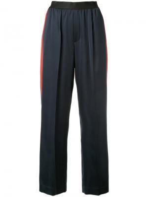 Укороченные брюки с красными полосками Astraet. Цвет: чёрный