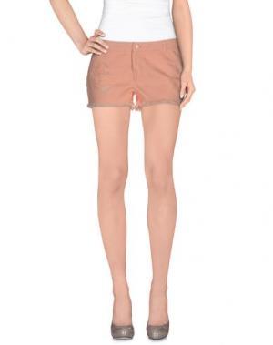Джинсовые шорты VERO MODA. Цвет: лососево-розовый