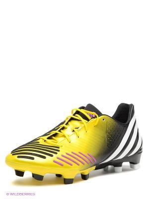 Бутсы Adidas. Цвет: черный, фуксия, желтый