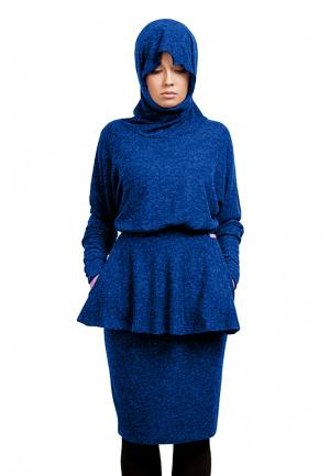 Платье Sahera Rahmani. Цвет: синий