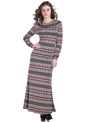 Платье OLIVEGREY. Цвет: бордовый, черный