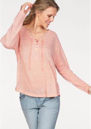 Пуловер CHEER. Цвет: персиковый