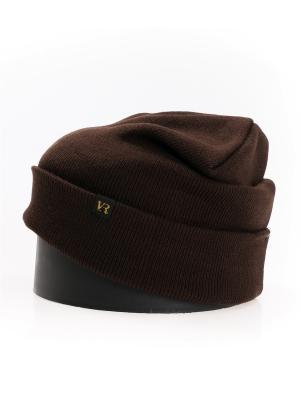 Шапка Vittorio Richi. Цвет: темно-коричневый