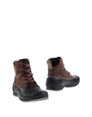 Полусапоги и высокие ботинки SOREL. Цвет: какао