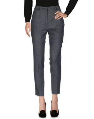Повседневные брюки ODEEH. Цвет: стальной серый